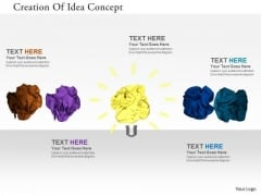 Stock Photo Creation Of Idea Concept PowerPoint Slide
