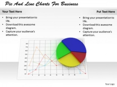 Stock Photo Creative Marketing Concepts Pie And Line Charts For Business Images Photos