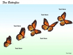 Stock Photo Creative Marketing Concepts Series Of Five Butterflies Business Pictures Images