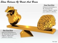 Stock Photo Creative Marketing Concepts Show Balance Of Heart And Brain Business Clipart Images
