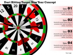 Stock Photo Dart Hitting Target New Year Concept PowerPoint Slide