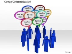 Stock Photo Design Of Group Communication PowerPoint Slide