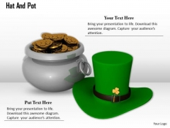 Stock Photo Design Of Money Pot With Hat PowerPoint Slide