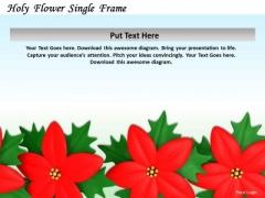 Stock Photo Design Of Red Flowers Frame PowerPoint Slide