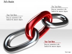 Stock Photo Design Of Red Silver Link Chain PowerPoint Slide