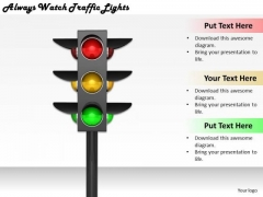 Stock Photo Develop Business Strategy Always Watch Traffic Lights Stock Photos