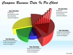 Stock Photo Develop Business Strategy Compare Data Pie Chart Stock Images