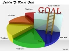 Stock Photo Develop Business Strategy Ladder To Reach Goal Stock Photos