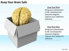 Stock Photo Developing Business Strategy Keep Your Brain Safe Images