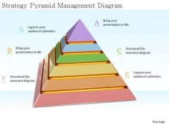 Stock Photo Developing Business Strategy Pyramid Management Diagram Photos