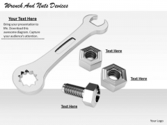 Stock Photo Developing Business Strategy Wrench And Nuts Devices Success Images