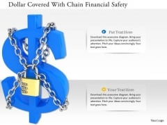 Stock Photo Dollar Covered With Chain Financial Safety PowerPoint Slide