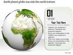 Stock Photo Earth Globe Design For Geography PowerPoint Slide