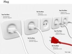 Stock Photo Electricity Plugs In Sockets PowerPoint Slide