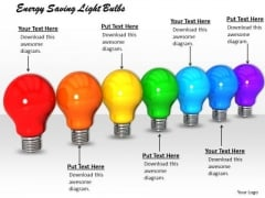 Stock Photo Energy Saving Light Bulbs PowerPoint Template