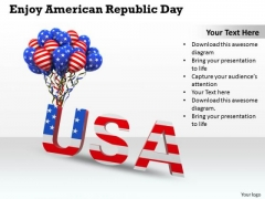 Stock Photo Enjoy American Republic Day PowerPoint Template