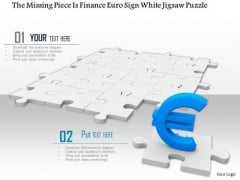 Stock Photo Euro Symbol On Missing Puzzle Piece PowerPoint Slide