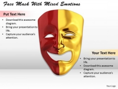 Stock Photo Face Mask With Mixed Emotions PowerPoint Template