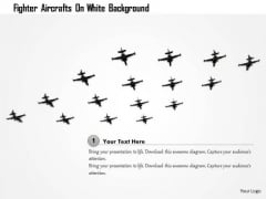 Stock Photo Fighter Aircrafts On White Background PowerPoint Slide