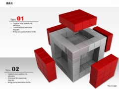 Stock Photo Five Open Sides Of Cube PowerPoint Slide