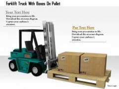 Stock Photo Forklift Truck With Boxes On Pallet PowerPoint Slide