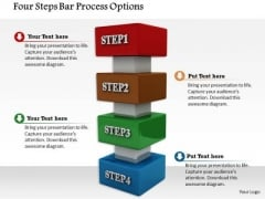 Stock Photo Four Steps Bar Process Options PowerPoint Slide