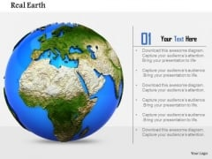 Stock Photo Geography Earth Globe Icon PowerPoint Slide