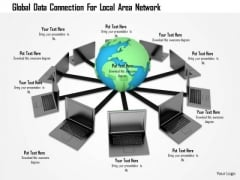 Stock Photo Global Data Connection For Local Area Network PowerPoint Slide