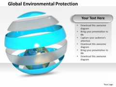 Stock Photo Global Environmental Protection PowerPoint Template