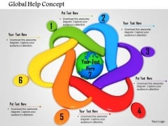 Stock Photo Global Help Concept PowerPoint Slide