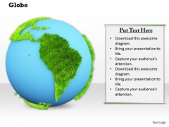 Stock Photo Globe Showing Map For Geography PowerPoint Slide