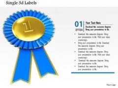 Stock Photo Gold Medal For 1st Position Winner PowerPoint Slide