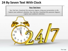 Stock Photo Golden Clock For Time Management PowerPoint Slide