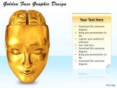 Stock Photo Golden Face Graphic Design PowerPoint Template