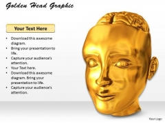Stock Photo Golden Head Graphic PowerPoint Template