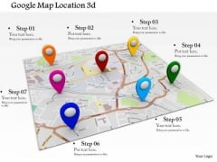 Stock Photo Google Maps Location Access PowerPoint Slide