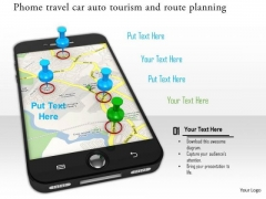 Stock Photo Gps Service For Route Planning PowerPoint Slide