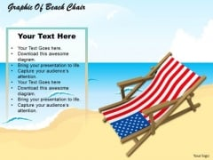 Stock Photo Graphic Of Beach Chair PowerPoint Template