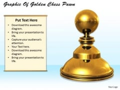 Stock Photo Graphic Of Golden Chess Pawn PowerPoint Template