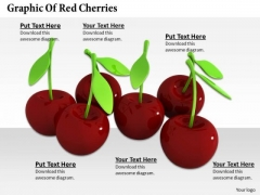 Stock Photo Graphic Of Red Cherries PowerPoint Template