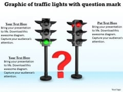 Stock Photo Graphic Of Traffic Lights With Question Mark PowerPoint Template