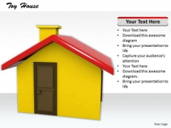 Stock Photo Graphics Of 3d House PowerPoint Slide