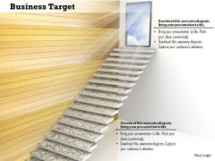 Stock Photo Graphics Of Stairway To The Sky PowerPoint Slide
