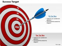 Stock Photo Graphics Of Target Achievement Pwerpoint Slide