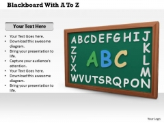 Stock Photo Green Board With Alphabets PowerPoint Slide