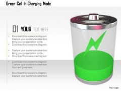 Stock Photo Green Cell In Charging Mode PowerPoint Slide