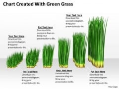 Stock Photo Green Grass Business Growth Chart PowerPoint Slide