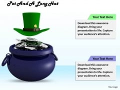 Stock Photo Green Hat On Top Of Pot PowerPoint Slide