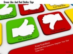 Stock Photo Green Like And Red Dislike Sign PowerPoint Slide