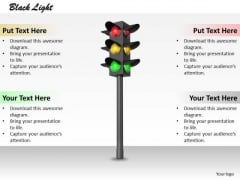 Stock Photo Green Red And Yellow Traffic Light PowerPoint Slide